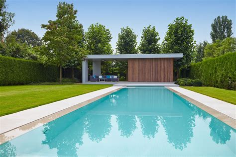 Modern House Architecture modern poolhouse in trespa en hout bogarden