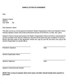Business Agreement Acceptance Letter Agreement Letter Formats