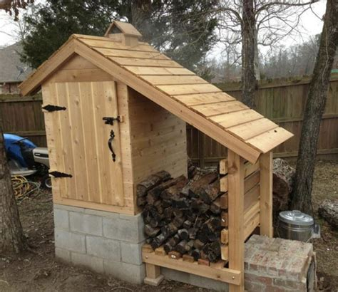 how to build a backyard smoker diy cedar smokehouse iseeidoimake
