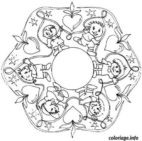 Coloriage Mandala Garcon Dessin