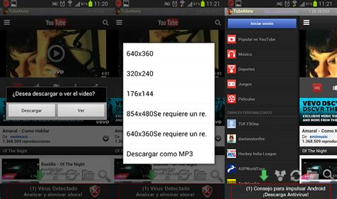 tubemate for android tubemate descargar v 237 deos de en tu android