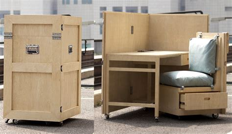 fold away furniture crates folding furniture the awesomer