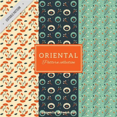 oriental pattern ai three oriental patterns vector free download