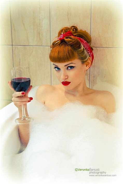 bathtub pinup 50s style rockabilly pin up