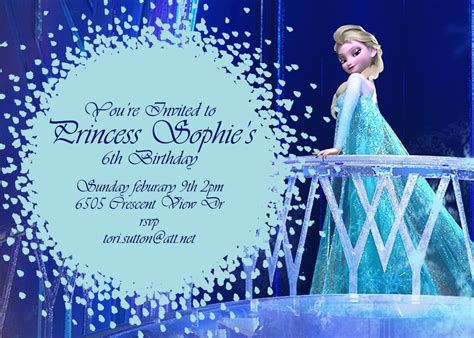 frozen birthday card template items similar to frozen birthday invitation disney s frozen disney princess princess elsa