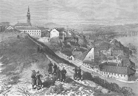 ottoman serbia serbia montenegrin ottoman war belgrade antique print 1876