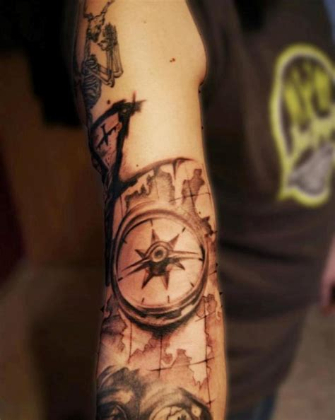 compass tattoo under arm full sleeve tattoos page 2