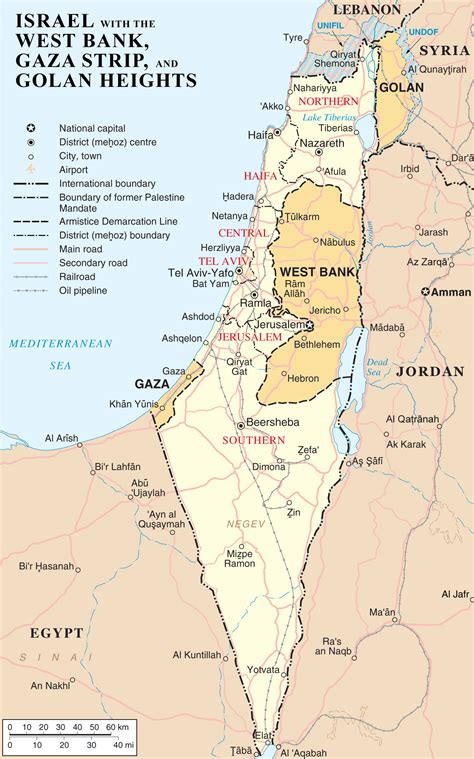 middle east map golan heights israel gaza conflict map