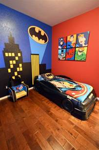 boys batman bedroom boy s batman superhero themed room with bat signal over