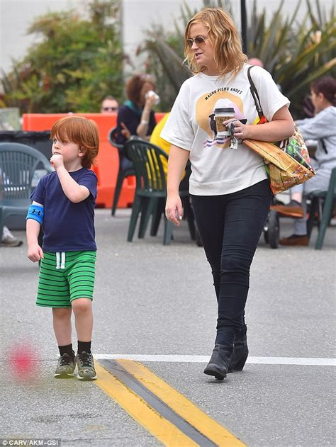 amy poehler sons amy poehler keeps it low key as she takes her sons archie