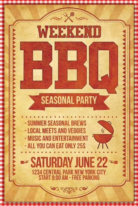 Bbq Flyer Template Psd Xtremeflyers Bbq Flyer Template Free