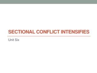 sectional conflict ppt the third party period reform and sectional conflict