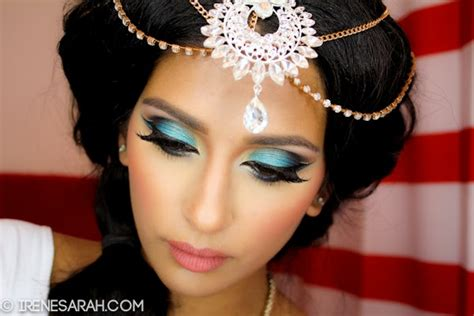 makeup tutorial jasmine princess jasmine makeup hair tutorial irenesarah