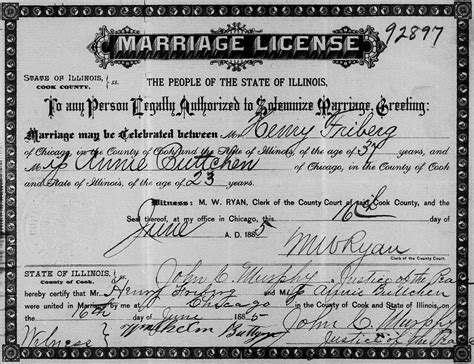 Illinois Marriage Records Kickstart Your Family Tree Marriage Records Historic