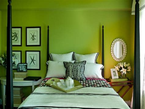 lime green walls in bedroom and green is for sheila zeller interiors