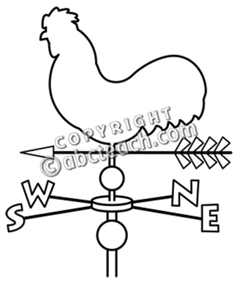Wind Vane Coloring Page Coloring Pages Wind Vane Template
