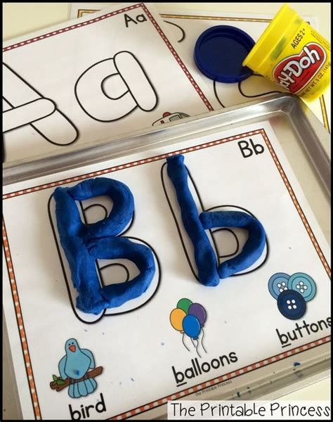 Letter Playdough Mats by Play Dough Alphabet And Plays On
