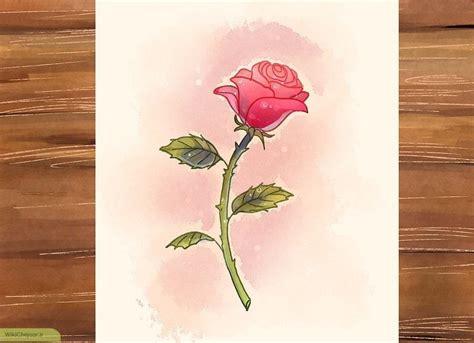 Leaf Daun Paper Flower Isi 12 Pcs چگونه گل رز با ساقه رسم کنیم ویکی چجوری