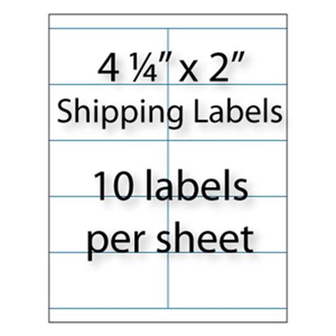 wholesale 4 25 quot x 2 quot blank shipping labels avery 174 5352
