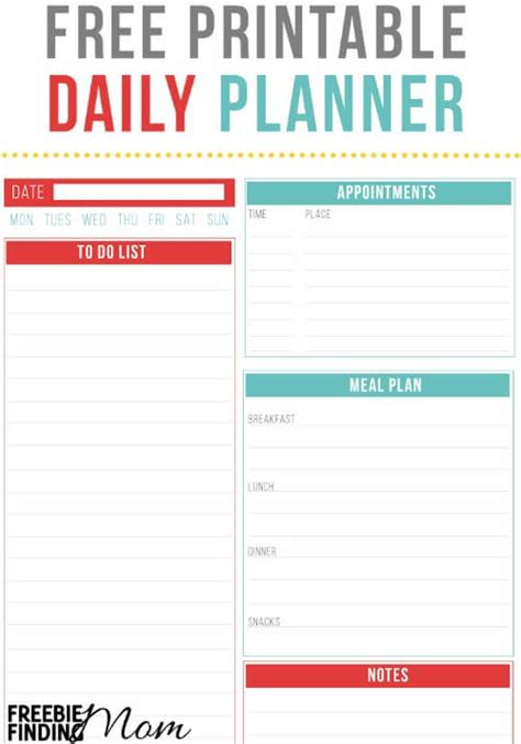 printable daily planner for work work planner printable free calendar template 2016