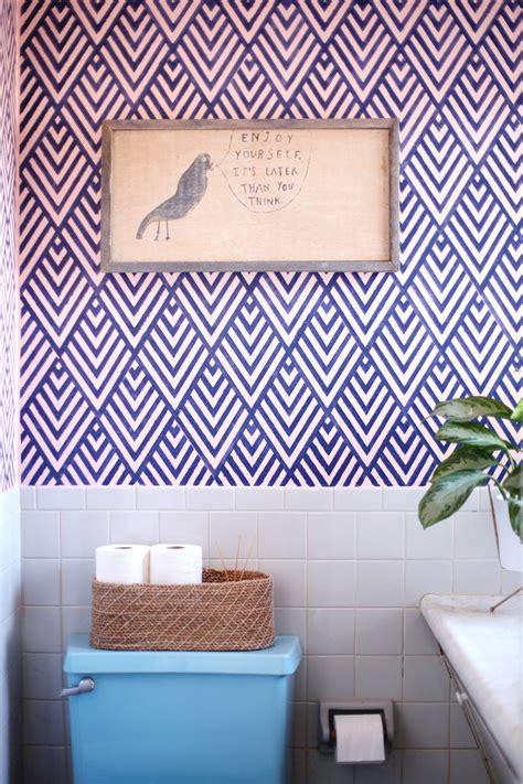 Bathroom Wall Stencil Ideas Make A Statement With Stenciled Walls
