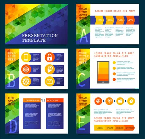 illustrator presentation templates vector presentation template free vector 14 060