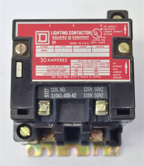 square d lighting contactor square d 8903 sm01 lighting contactor 30 amp 120v coil