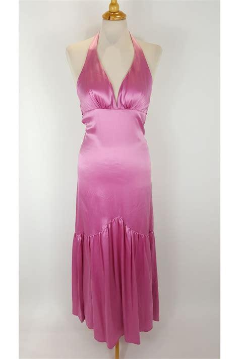 Silk Pink Dress odette christiane silk pink dress halterneck designer sale dresses