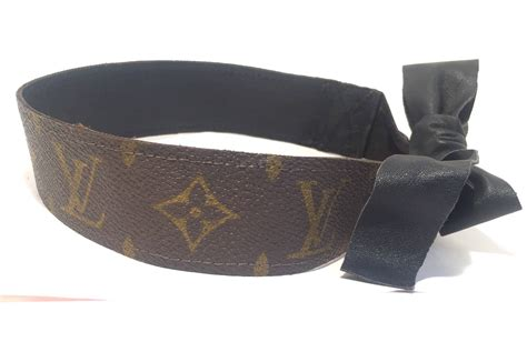 Louis Vuitton Headband louis vuitton hair band headband authentic vintage lv monogram repurposed hair accessories