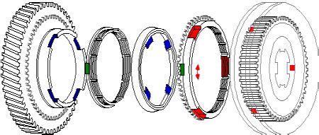 Gear Wheel With Pre Gearing Blue