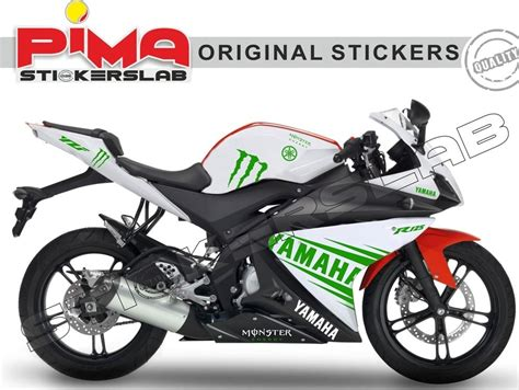 Monster Energy Sticker Kits Yamaha by Adesivi Stickers Yamaha Yzf R125 Kit N 4 Monster Energy
