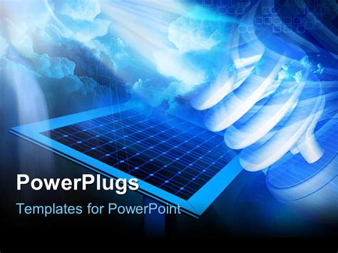 solar panel powerpoint template powerpoint template solar panel on a hi tech background