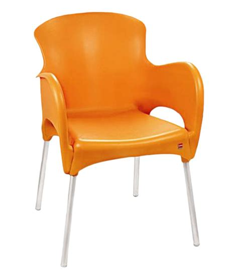 plastic sofa chair cello xylo living room orange plastic chair buy online at