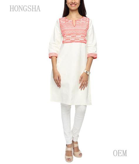 pattern of white kurti ladies white kurta cotton on printed pattern designs