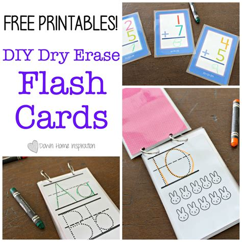 make flash cards free make diy erase flash cards with free printables
