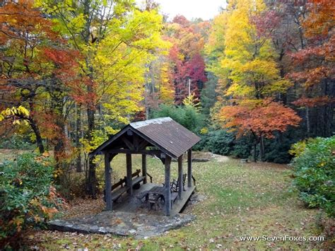 fall pictures cabins at seven foxes lake toxaway nc