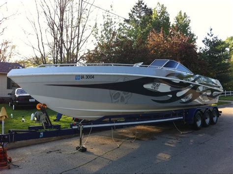 1989 black thunder don vee powerboat for sale in iowa - Custom Boat Covers Des Moines Iowa