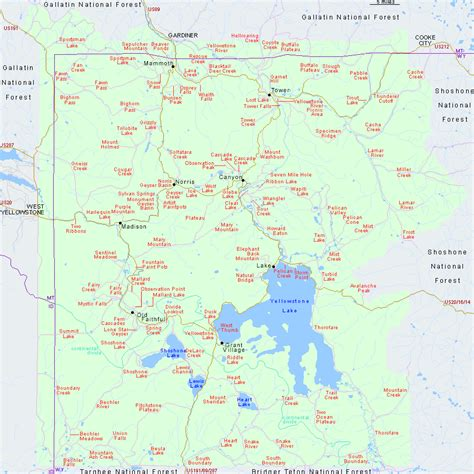 map of yellowstone national park yellowstone national park map pdf images