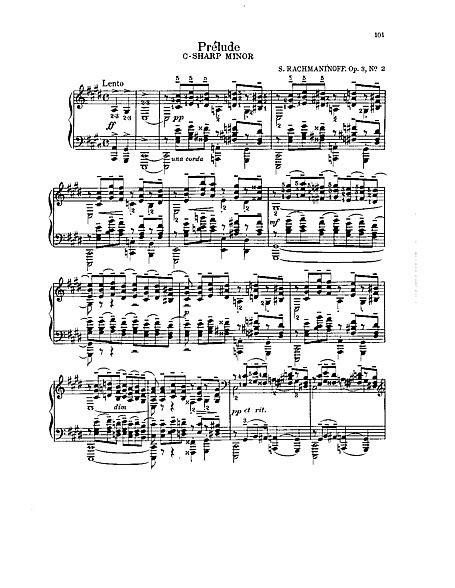 Morceaux de Fantaisie 2. Prélude in C sharp minor