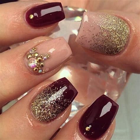 imagenes de uñas acrilicas navideñas 2015 el ciruela el color perfecto para un look elegante