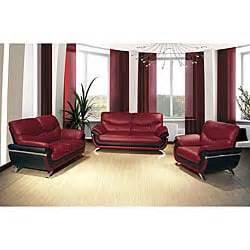 Sale Alesha Set By Kynarra european black 3 modern sofa set free shipping today overstock 14314715