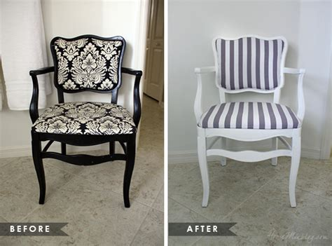 Upholstery Paint Before And After by How To Reupholster An Occasional Chair House Mix