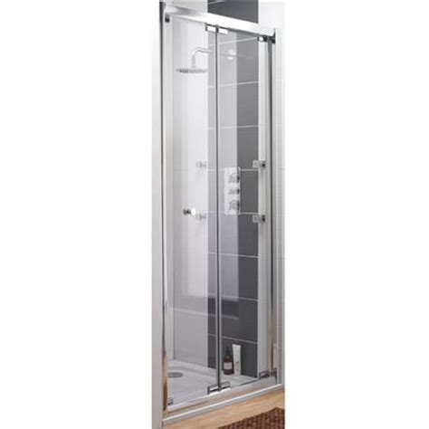ultra roma frameless bi fold shower door at