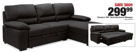 sleeper sofa black friday fred meyer black friday tessaro 102 quot sofa sectional