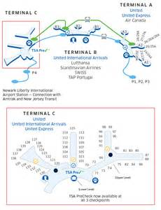 New York Newark Airport Map by New York Newark Ewr Liberty International Airport Map