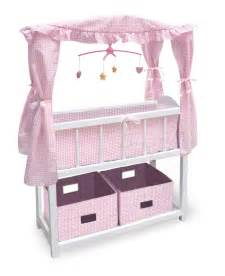 new badger basket canopy baby doll crib 2 baskets ebay