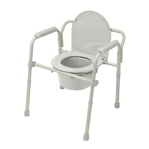 commodes but drive folding steel bedside commode 11148 1 the home depot