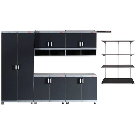 Rubbermaid Fasttrack Garage Laminate 5 Piece Cabinet Set Rubbermaid Garage Shelving