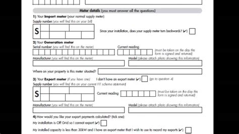 Credit Application Form How To Fill Out How To Fill Out The Feed In Tariff Application Form