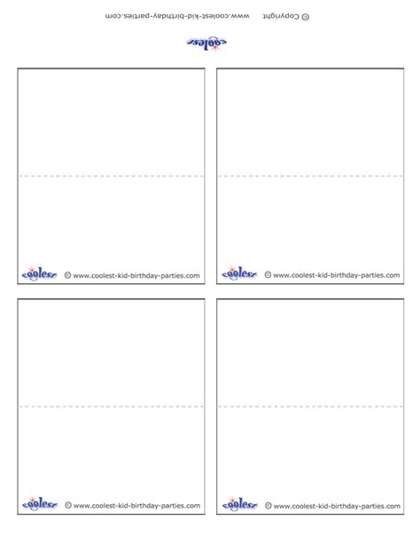 free place cards template blank printable place cards